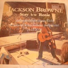 Discos de vinilo: DISCO SINGLEJACKSON BROWNE - STAY B/W ROSIE, AÑO 1978.. Lote 12276589