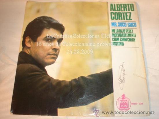 DISCO SINGLE ALBERTO - MR SUCU SUCU, AÑO 1965. (Música - Discos - Singles Vinilo - Solistas Españoles de los 50 y 60)