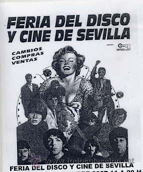 FERIA DEL DISCO Y CINE DE SEVILLA - 8 DE MARZO HOTEL ABBA TRIANA (SEVILLA) (Música - Discos - LP Vinilo - Grupos Españoles de los 70 y 80)