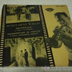 Discos de vinilo: BENGT-ARNE WALLIN FILM ' LA STRADA ' Y FILM ' SOMMARENS DARSKAP ' 1956 EP45 . Lote 12309697
