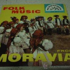 Discos de vinilo: FOLK MUSIC FROM MORAVIA EP45. Lote 12310410