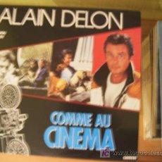 Discos de vinilo: ALAIN DELON ( COMME AU CINEMA ) MAXI SINGLE 45 RPM FRANCIA 1987. Lote 27483027