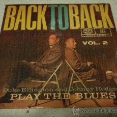 Discos de vinilo: DUKE ELLINGTON & JOHNNY HODGES PLAY THE BLUES (BEALE STREET BLUES - ST. LOUIS BLUES) VERVE SINGLE. Lote 12327374