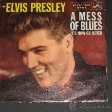 Discos de vinilo: ELVIS PRESLEY.IT´S NOW OR NEVER.AÑO 1960.REF:47-7777. Lote 27233541