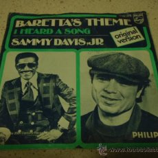 Discos de vinilo: SAMMY DAVIS JR.'ORIGINAL VERSION' ( BARETTA'S THEME - I HEARD A SONG ) USA-1976 SINGLE45 PHILIPS. Lote 18071973