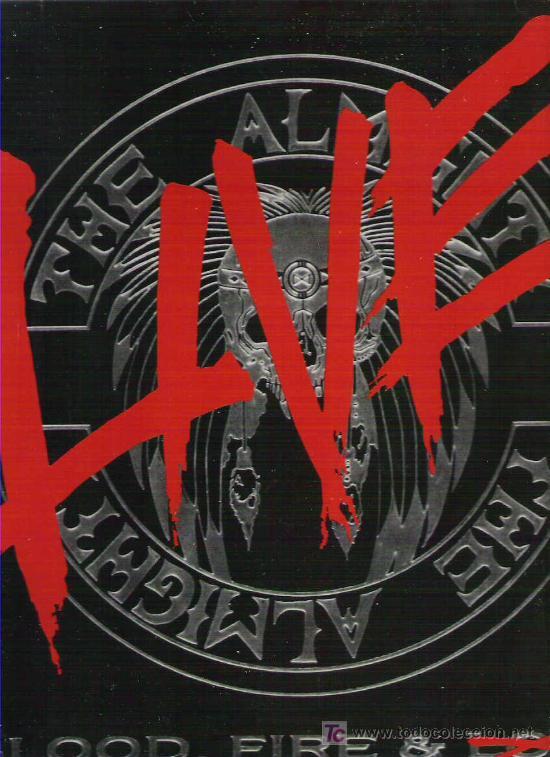 THE ALMIGHT - BLOOD , FIRE & LOVE LVE + ENCARTE 1990 EDICION HOLANDESA (Música - Discos - LP Vinilo - Heavy - Metal)