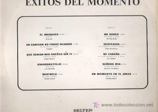 Discos de vinilo: exitos del momento - los albas / gente jovn / imagen cotinuados *lp belter 1976 - Foto 2 - 12356682