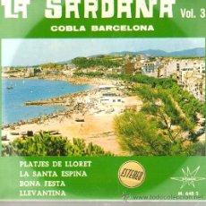 Discos de vinilo: EP SARDANES - COBLA BARCELONA - PLATJES DE LLORET . Lote 21089121