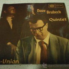 Discos de vinilo: DAVE BRUBECK QUINTET ' REUNION ' ( LEO'S PLACE - SHOUTS ) 1959-SWEDEN SINGLE45 KARUSELL. Lote 12348236