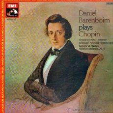 Discos de vinilo: DANIEL BARENBOIM . PLAYS . CHOPIN .. LP. Lote 21386069