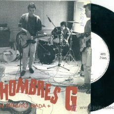 Discos de vinilo: HOMBRES G. UN MINUTO NADA + (VINILO- SINGLE 1987). Lote 12397652