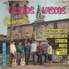 Dischi in vinile: LOS CONTRAPUNTOS EP SELLO BELTER AÑO 1963 CANTOS VASCOS. Lote 12410340