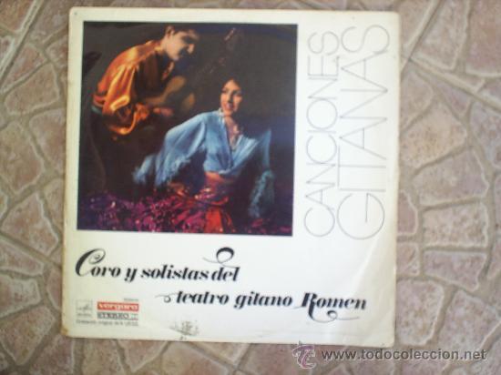 L P CORO Y SOLISTAS DE TEATRO GITANO ROMEN 1968 (Música - Discos - Singles Vinilo - Étnicas y Músicas del Mundo)