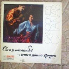Discos de vinilo: L P CORO Y SOLISTAS DE TEATRO GITANO ROMEN 1968. Lote 20786928