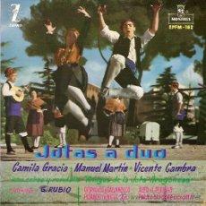 Discos de vinilo: CAMILA GRACIA/MANUEL MARTIN/VICENTE CAMBRA EP SELLO ZAFIRO MONTILLA AÑO 1963 JOTAS A DUO . Lote 12431638