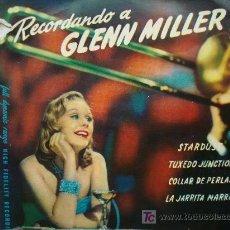 Discos de vinilo: RECORDANDO A GLENN MILLER. Lote 12434742