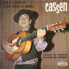 Discos de vinilo: CASSEN EP SELLO SONOPLAY AÑO 1968. Lote 12458241