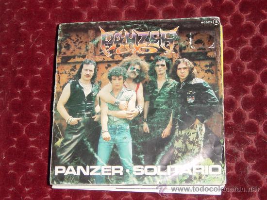 PANZER. SOLITARIO. DISCO PROMOCIONAL. CHAPA DISCO 1982. VINILO IMPECABLE (Música - Discos - Singles Vinilo - Heavy - Metal)