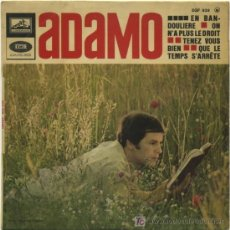 Discos de vinilo: ADAMO - EN BANDOULIERE - ON N'A PLUS DROIT- SINGLE 1967 FRANCÉS S204. Lote 12472453