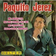 Discos de vinilo: PAQUITO JEREZ EP SELLO BELTER AÑO 1962. Lote 12473327