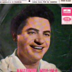 Discos de vinilo: ANTONIO MOLINA . SINGLE EP. Lote 64816003