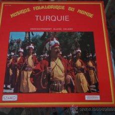 Discos de vinilo: MUSICA FOLCLORICA DEL MUNDO ' TURQUIA ' FRANCIA LP33 MUSIDISC. Lote 12499934