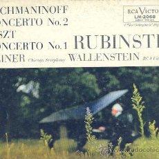 Discos de vinilo: RACHMANINOFF..LISZT..REINER..VALLENSTEIN..RUBINSTEIN LP USA LMO 2068 1957 RCA. Lote 12528460