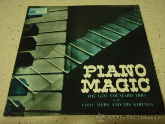 THE GEO VOUMARD TRIO WITH EDDY MERS & HIS STRINGS 'PIANO MAGIC' (OVER YOU - NUAGES - UNDECIDED - (Música - Discos de Vinilo - EPs - Orquestas)