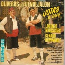 Discos de vinilo: EP FOLK ARAGON : OLIVERAS DE FUENJALON - JOTAS A DUO - L.NAVASCUES & G. DOMINGUEZ . Lote 25355961