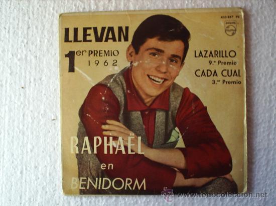 RAPHAEL --1962 EN BENIDORM (Música - Discos - Singles Vinilo - Otros Festivales de la Canción)