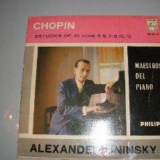 Discos de vinilo: ALEXANDER UNINSKY - SINGLE VINILO PHILIPS AÑO 1960 - CHOPIN OP. NUMS. 3, 5, 7, 8, 10, 12.. Lote 25473823