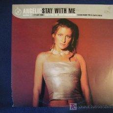 Discos de vinilo: ANGELIC - STAY WITH ME (3 VERSIONES) / IT'S MY TURN - MAXISINGLE. Lote 12696998