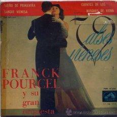 Discos de vinilo: FRANCK POURCEL / SUEÑO DE PRIMAVERA / CUENTOS DE LOS BOSQUES DE VIENA / SANGRE VIENESA (EP). Lote 12747795