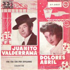 Discos de vinilo: JUANITO VALDERRAMA Y DOLORES ABRIL - CHA CHA CHA POR SEVILLANAS ** RCA 1961 RARO. Lote 12752181