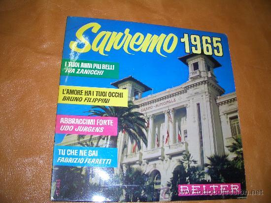 SAN REMO 1965 (Música - Discos - LP Vinilo - Otros Festivales de la Canción)