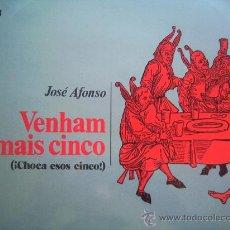 Discos de vinilo: JOSE AFONSO,VENHAM MAIS CINCO DEL 74 EN OFERTA POR UN TIEMPO. Lote 295694573