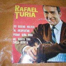 Discos de vinilo: RAFAEL TURIA -BELTER-. Lote 16021080