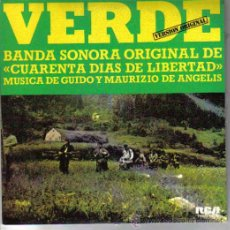 Discos de vinilo: BSO CUARENTA DIAS DE LIBERTAD SINGLE 1976 SPAIN. Lote 12789975