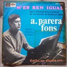 Discos de vinilo: A. PARERA FONS - FESTIVAL CANCION MALLORCA 1968. Lote 12819619
