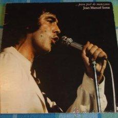 Discos de vinilo: JOAN MANUEL SERRAT ( ... PARA PIEL DE MANZANA ) 1975-ESPAÑA LP33 ARIOLA. Lote 12820049