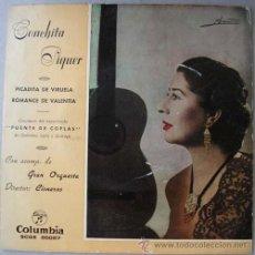 Discos de vinilo: CONCHITA PIQUER - PICADITA DE VIRUELA - SINGLE COLUMBIA 1963. Lote 17416545