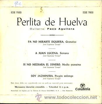 Discos de vinilo: PERLITA DE HUELVA - Foto 2 - 26465709
