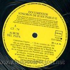Discos de vinilo: DOCUMENTOS SONOROS DE JUAN PABLO II. EL PAPA HABLA EN CASTELLANO. Lote 27283251