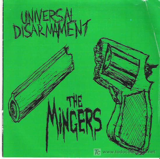 THE MINGERS - UNIVERSAL DISARMENT *** EP DE 7 CANCIONES VINILO COLOR VERDE (Música - Discos de Vinilo - EPs - Punk - Hard Core)