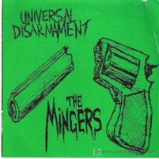 Discos de vinilo: THE MINGERS - UNIVERSAL DISARMENT *** EP DE 7 CANCIONES VINILO COLOR VERDE. Lote 13961555