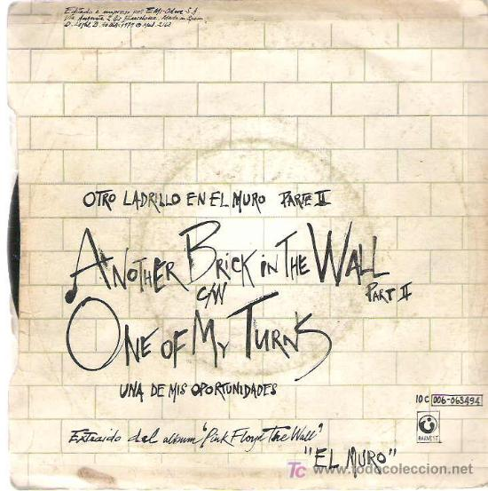 Discos de vinilo: PINK FLOYD - ANOTHER BRICK IN THE WALL ** 1979 - Foto 2 - 12854885