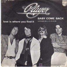 Discos de vinilo: SINGLE - PLAYER - BABY COME BACK. Lote 12859032