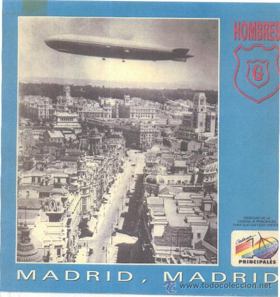 HOMBRES G. MADRID, MADRID (VINILO-LP -MAXI-SINGLE 1990) (Música - Discos de Vinilo - Maxi Singles - Jazz, Jazz-Rock, Blues y R&B)