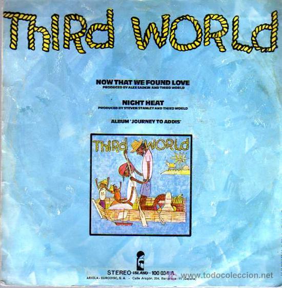 Discos de vinilo: SINGLE - THIRD WORLD - AHORA QUE ENCONTRAMOS EL AMOR - Foto 2 - 12859088