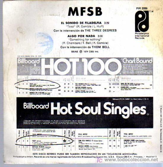 Discos de vinilo: SINGLE - THE PHILADELPHIA SOUND /EL SONIDO PHILADELPHIA - Foto 2 - 12859047